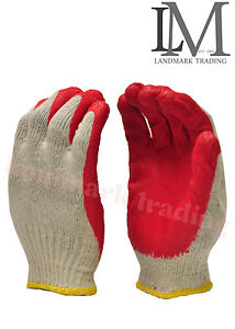 Wholesale 300 Pairs Red Latex Rubber Paim Coated Work Gioves A