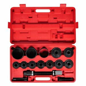20 piece Wheel Drive Bearing Removal Adapter Puller Pulley Tool Kit W Case