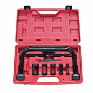 10 Piece Valve Spring Compressor Pusher Tool Set For Car Motorcycle Engine
