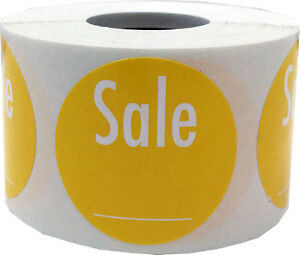 Yellow With White Writable Sale Stickers 1 5 Inches Round 500 Pack