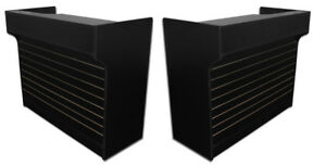 Ledgetop Sales 72 Counter Retail Store Display Fixture Black Knockdown New