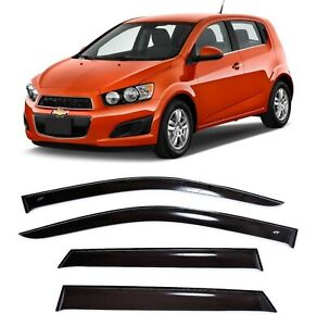 For Chevrolet Aveo Hb 5d 2011 2015 Window Visors Side Sun Guard Vent Deflectors