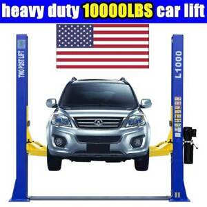 Auto 10 000 Lbs L1000 2 Post Lift Car Lift Auto Truck Hoist Free Shipping 220v