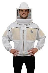 Humble Bee 332 Ventilated Beekeeping Jacket With Square Veil medium