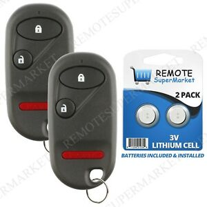 2 Replacement For Honda 1994 1997 Accord 1996 2000 Civic Remote Car Key Fob 3b