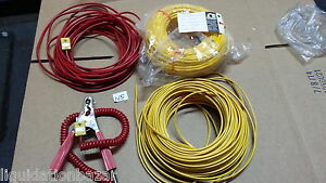 Thermocouple Material Connectors Wires Clamp Red And Yellow K Lot As In Photo