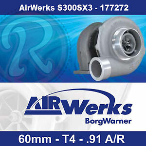 Borg Warner Airwerks S300sx3 Turbo 60mm T4 Twin Scroll 0 91 A R 320 800hp 177272