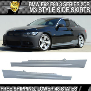 Fits 07 13 Bmw E92 E93 3 Series 2dr M3 Style Pp Side Skirts Panels Pair Bodykits