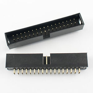 20pcs 2 54mm 2x17 Pin 34 Pin Straight Male Shrouded Box Header Pcb Idc Connector