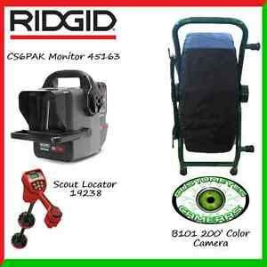 Ridgid Cs6pak 45163 Customeyes 200 Color Camera Reel Scout Locator 19238