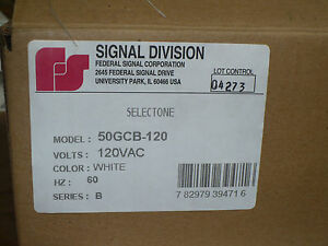 Federal Signal 50gcb 120 Ceiling Mount Speaker 120 Vac 60 Hz White New