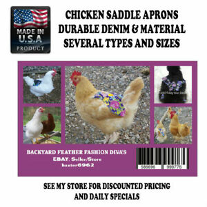 10 Chicken Saddle Apron Hen Jacket Back Protection Chicken Backyard Poultry Usa