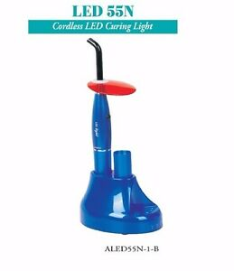 Tpc Dental Cordless Led Curing Light Aled55n 1 b Blue With Charging Stand