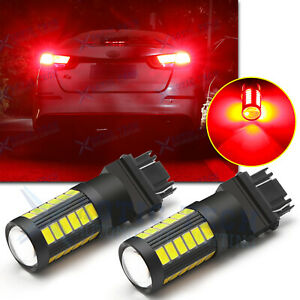 Brilliant Red Max 100w 3156 3157 Led Bulbs For Brake Tail Stop Light Bulbs