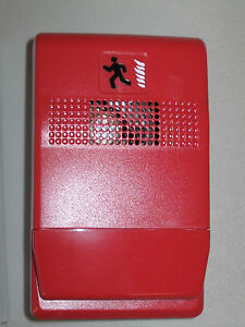 New Est Edwards Genesis G1r c Fire Alarm Repeating Chime 24vdc Red