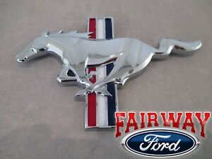 15 Thru 17 Mustang Oem Ford California Special Chrome Tri Bar Pony Grille Emblem