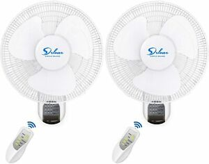 Simple Deluxe 2 pack 16 Wall Mount Oscillating Exhaust Digital Fan With Remote