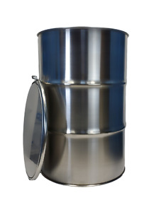 55 Gallon Stainless Steel Barrel Drum Open Top 1 2mm Thick New