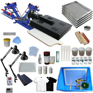 3 Color Silk Screen Printing Kit Machine With Flash Dryer Diy Material Tools