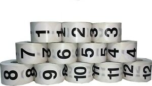 1 5 Round Number Stickers 0 12 Bulk Pack