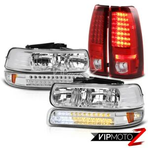 99 2002 Chevy Silverado 2500hd Pair New Headlight Parking Led Signal Tail Lights