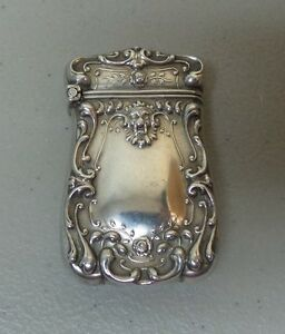 Watson Briggs Sterling Silver Match Safe Vesta Case C 1900 25 Grams