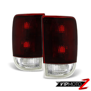 dark Red 1995 2004 Chevy Blazer Gmc Jimmy Rear Brake Tail Lights Left Right