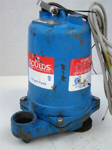 Goulds Pump 1 2hp 2 Submersible Sewage Pump 14 5a 3450rpm 115v We0511h