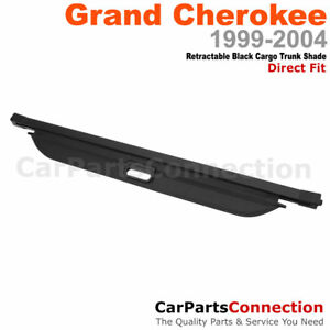 Retractable Black Cargo Cover Trunk Luggage Shade For 99 04 Jeep Grand Cherokee