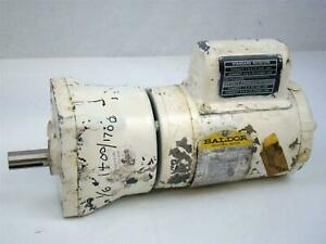Baldor Gear Motor 1 6hp Single Phase 2 12a 1400 1700rpm 30959