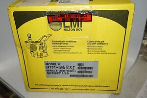 New Lmi Milton Roy B131 368si Electronically Controlled Metering Pump 50 Psi