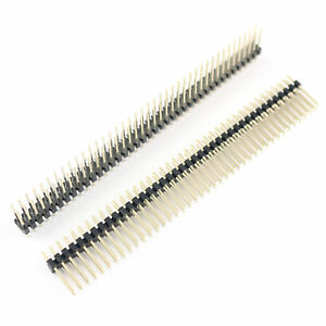 100pcs Gold Plated 2mm 2 0mm Pitch 2x40 Pin 80 Double Male Header Strip L 12mm