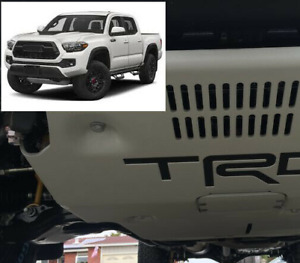 Premium Matte Black Vinyl Decal Inserts For 2017 2018 Tacoma Trd Pro Skid Plate