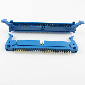 50pcs Blue 2 54mm 2x32 Pin 64 Pin Male Straight Ejector Header Connector Latch