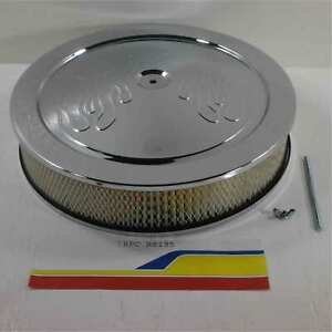 Rpc Racing Power Co R8195 Air Cleaner Chrome 14 X3 Round Flame Musclecar