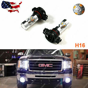 New Hid White 100w 5202 H16 Led Daytime Running Drl Fog Lights Bulbs Lamps