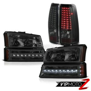 03 04 05 06 Chevy Silverado 1500 Tail Lights Parking Light Headlights Led Smd