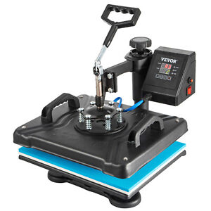 8 In 1 Heat Press Machine For T shirts 12 x15 Combo Kit Sublimation Swing Away