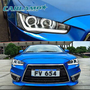 Mitsubishi Lancer Evo X 2008 2017 Headlights Led Drl Front Lamp Projector