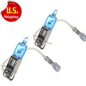2x H3 Halogen 6000k 55w Fog Driving Light Bulbs Bright White Xenon Replacement