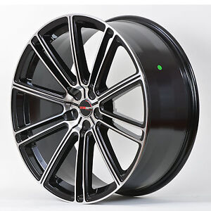 4 Gwg Wheels 20 Inch Black Machined Flow Rims Fits Et38 5x114 3 Ford Mustang