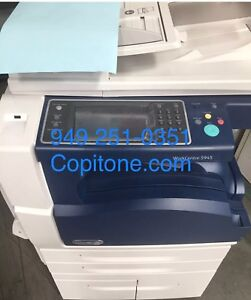 Xerox Wc 5945 workcenter copier printer color Scan clean x49 Finisher warranty
