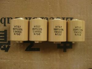Ht57 Ccht57 200pf 15kv Dc N750 High Frequency voltage Ceramic Capacitor 1917 Xh