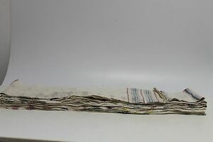 Antique Authentic Old Hand Woven Linen Fabric Bed Sheet Cloth