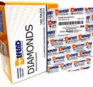 Diamond Burs Double Inverted Cone 806 014c Course 10x10 pk Bur 100 Total Bur
