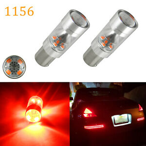 Red Max 100w 1156 Ba15s Led Bulbs For Turn Signal Backup Drl Lights Lamps