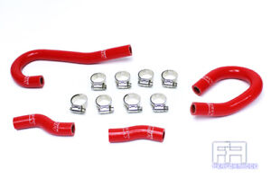 Hps Silicone Heater Hose Coolant Kit For 12 15 Grand Cherokee Srt8 6 4 6 4l Red