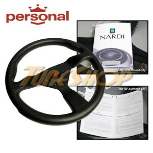 Italy Personal Grinta 350mm Steering Wheel Black Polyurethane Red Logo Horn