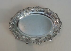 Nice German 800 Silver Art Nouveau Chased Pierced 12 5 Oval Tray