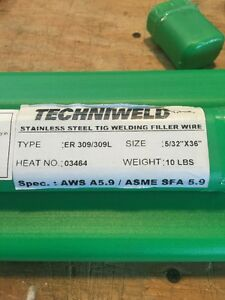 Techniweld Stainless Welding Wire Rod 309l 5 32 X 36 Long X 10